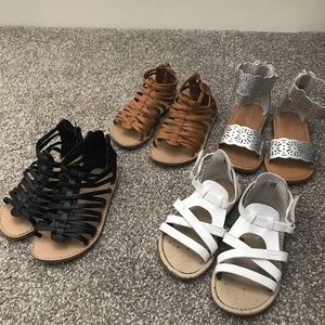 Lot of 4 girls sandals